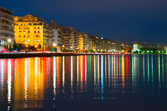 Thessaloniki at dusk, Greece Royalty Free Stock Images