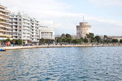 Thessaloniki. Embankment near the White Tower Royalty Free Stock Photography