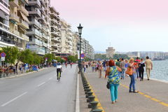 Thessaloniki embankment panoramic view Stock Images