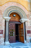 Thessaloniki, the entrance to church of Hagia Sophia Royalty Free Stock Photos