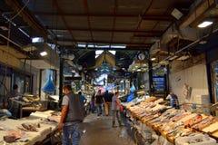 Thessaloniki fiskmarknad Grekland Royaltyfri Fotografi