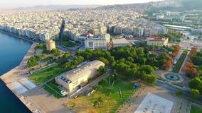 Thessaloniki flyg- sikt lager videofilmer