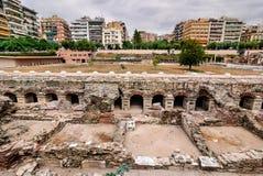 Thessaloniki forntida marknadsplats, Grekland Fotografering för Bildbyråer