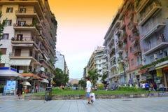 Thessaloniki fyrkant Grekland Royaltyfri Bild