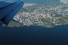 Thessaloniki, Greece aerial view from a flying aircraft. Stock Image