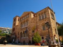 Thessaloniki, Greece - The byzantine church of Agios Dimitrios. Thessaloniki, Greece - Tourists visiting the byzantine church of Agios Dimitrios Royalty Free Stock Photography