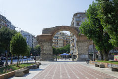 Thessaloniki, Greece Galerius Arch day view. royalty free stock image