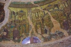 Mosaic on dome inside of Rotunda of Galerius, Thessaloniki, Greece royalty free stock photos