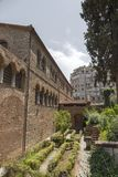 Exterior view of the Byzantine chuch of Acheiropoietos in Thessaloniki, Greece stock image
