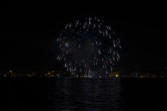 Thessaloniki, Greece New Years Eve 2017 fireworks. Stock Images