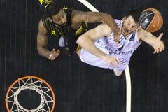 Greek Basket League game Paok vs Aris at PAOK sports arena. Stock Photo