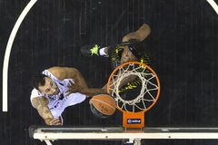 Greek Basket League game Paok vs Aris at PAOK sports arena. Stock Image