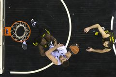 Greek Basket League game Paok vs Aris at PAOK sports arena. Royalty Free Stock Photography