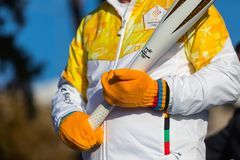 Winter Olympics torch relay arrived in Thessaloniki Royalty Free Stock Photography