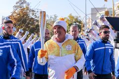 Winter Olympics torch relay arrived in Thessaloniki Royalty Free Stock Image