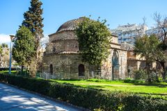 10.03.2018 Thessaloniki, Greece - Ottoman bathhouse Bey Hamam lo. Cated at Egnatia street in the center of city of Thessaloniki, Central Macedonia, Greece Royalty Free Stock Photos