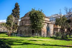 10.03.2018 Thessaloniki, Greece - Ottoman bathhouse Bey Hamam lo. Cated at Egnatia street in the center of city of Thessaloniki, Central Macedonia, Greece stock photography