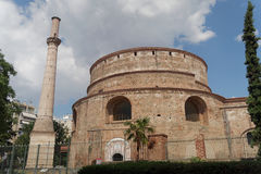Thessaloniki, Greece. The Rotunda of Emperor Galerius. Known as the Greek Orthodox Church of Agios Georgios, it can be found close to The Arch of Roman Emeperor stock photos
