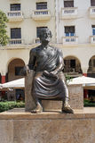 Thessaloniki, Greece - September 04 2016: Aristotle statue Aristotelous square. The statue of Aristotle the philosopher on the main homonymous square of stock images