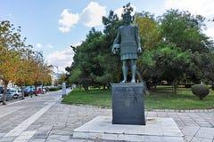 THESSALONIKI, GREECE - SEPTEMBER 30, 2017: Philip II of Macedon Monument at embankment of city of Thessaloniki, Central Macedonia Royalty Free Stock Photo