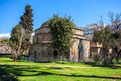 10 03 2018 Thessaloniki, Grekland - ottomanbathhouseBey Hamam lo Arkivbild