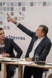 THESSALONIKI GREKLAND - SEPTEMBER 13, 2017 Grekisk ledare av polit Arkivbild