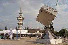 Thessaloniki Grekland - September 12 2016: Ingång till den 81st internationella mässan Fotografering för Bildbyråer