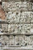 THESSALONIKI GREKLAND - SEPTEMBER 30, 2017: Roman Arch av Galerius i mitten av staden av Thessaloniki, centrala Makedonien royaltyfri fotografi