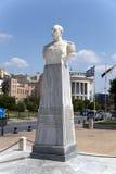 Thessaloniki, Griekenland. Een marmeren mislukking van Nikolaos Votsis (1934) stock afbeeldingen