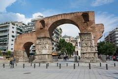 THESSALONIKI, GRIEKENLAND - MEI 25, 2017: De Boog van Galerius, beter - als Kamara, Thessaloniki, Griekenland wordt bekend dat Royalty-vrije Stock Foto's