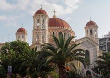 Thessaloniki, Griekenland Metropolitaanse Orthodoxe Tempel van Heilige Gregory Palamas Stock Foto's