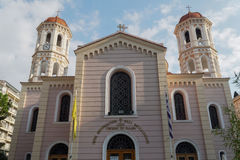 Thessaloniki, Griekenland Metropolitaanse Orthodoxe Tempel van Heilige Gregory Palamas Royalty-vrije Stock Afbeeldingen