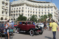 Thessaloniki, Griekenland - September 18 2016: Chevrolet van jaren '30 historische auto toont Royalty-vrije Stock Foto