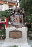 Thessaloniki, Griekenland - September 13 2016: Olga Constantinovna van het standbeeld van Rusland Stock Foto