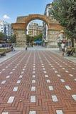 THESSALONIKI, GRIEKENLAND - SEPTEMBER 30, 2017: Roman Arch van Galerius in het centrum van stad van Thessaloniki, Centraal Macedo royalty-vrije stock afbeelding