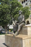 Thessaloniki, Griekenland - September 04 2016: Standbeeld van Aristoteles bij centraal vierkant Stock Foto