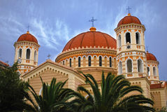 Thessaloniki. Kathedraal Stock Foto