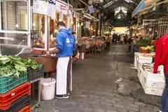 Thessaloniki loppmarknad Arkivfoton