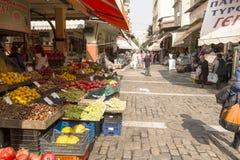 Thessaloniki loppmarknad Arkivbilder