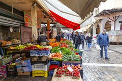 thessaloniki Mercato della citt? immagini stock