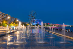 Thessaloniki by night royalty free stock photos