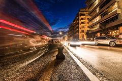 Thessaloniki by Night, Long Exposure Wide Angle Stock Photos