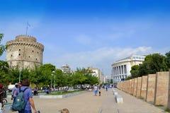 Thessaloniki oriëntatiepunten Griekenland Stock Afbeeldingen