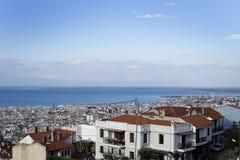 Thessaloniki. Overlooking Thessaloniki and beach area in Greece Royalty Free Stock Image