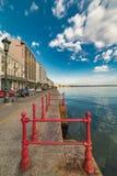 Thessaloniki, Paralia Port, Under the Blue sky Royalty Free Stock Photo