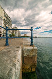 Thessaloniki, Paralia Port and White Tower, Under the Blue sky Stock Photo
