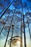 Thessaloniki paraplyer, Grekland arkivfoton