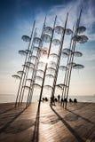 Thessaloniki paraplyskulptur arkivbild