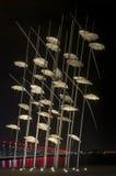 Thessaloniki paraplyskulptur royaltyfri fotografi