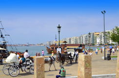 Thessaloniki promenade view Greece Stock Photography